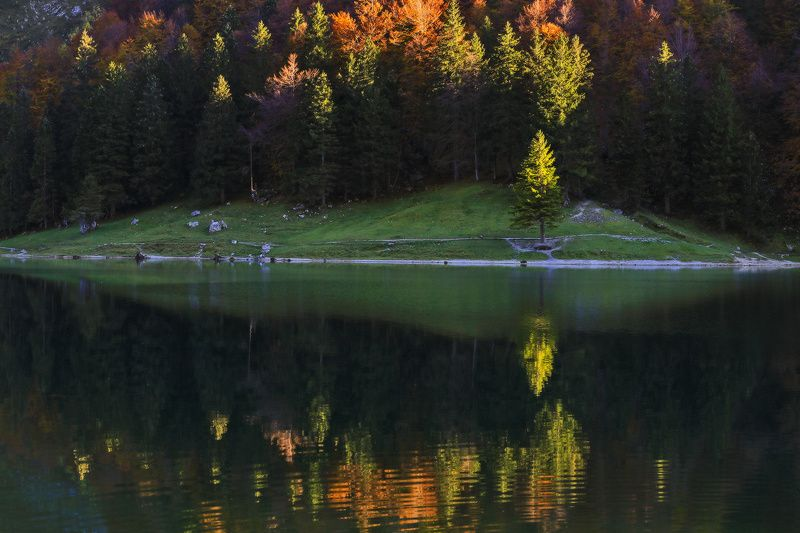 швейцария, озеро, осень, вечер Вечерний этюдphoto preview