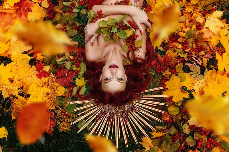 легенды осени, девушки, осень, королева, корна Легенды осениphoto preview