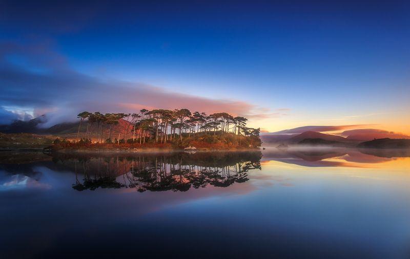 Connemara, Ireland, Galway, longexposure, long exposure, sunrise, sunset, fog, clouds, Autumn,  Connemaraphoto preview