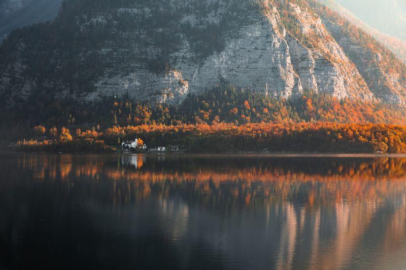 осень, австрия, озеро Уединениеphoto preview