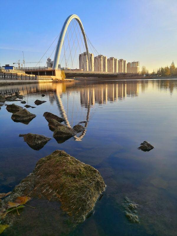 астана, город, мост Городской мотив.photo preview