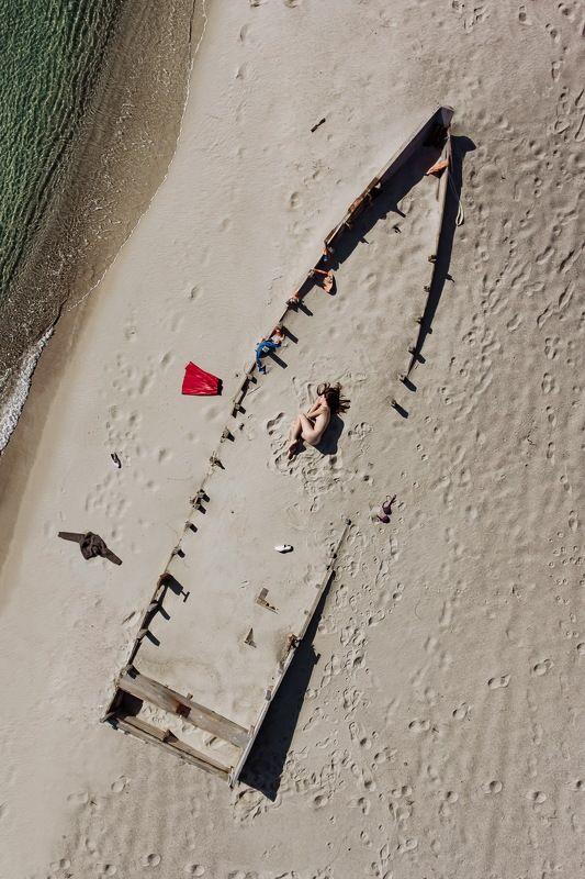 приморье, триозерье, море, песок, девушка, сон, одежда, ню Сон во снеphoto preview