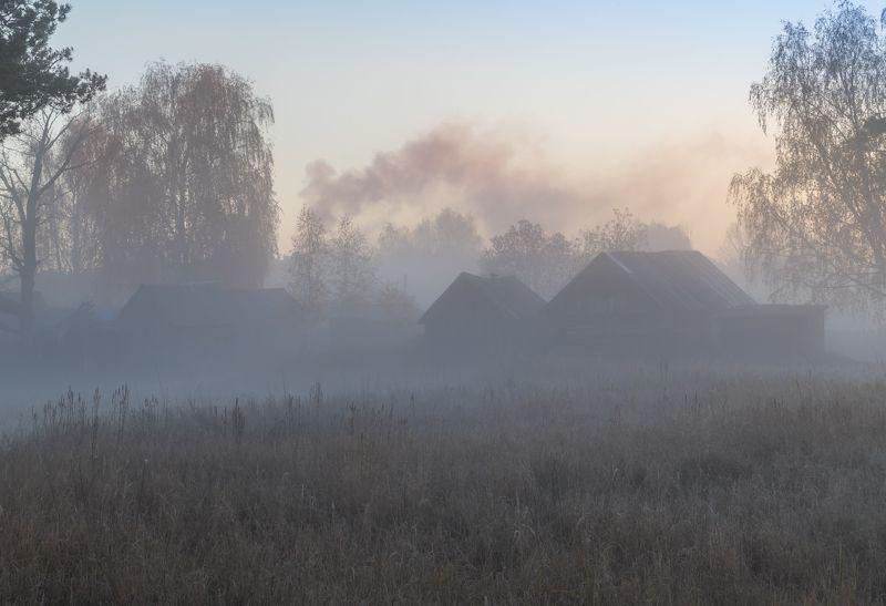 утро, рассвет, осень, туман В пелене туманаphoto preview