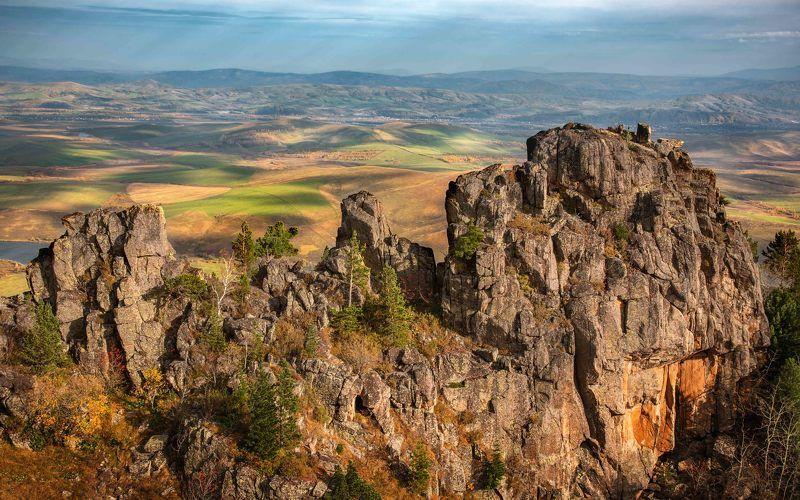 #пейзаж #осень #сентябрь #бабырган #алтай #алтайскийкрай #сибирь #россия #горы #оопт Вид с вершины Бабырганаphoto preview
