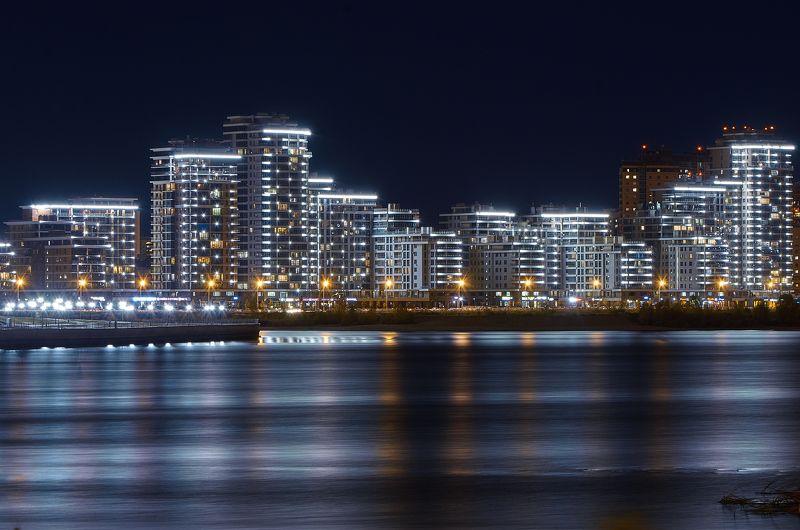 Казань, Россия, пейзаж, городской пейзаж, Данил Тетёркин, ночь Казань.photo preview