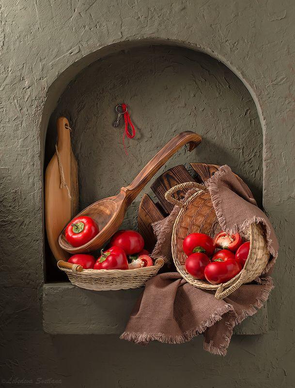 натюрморт,ниша,тыквы,перец,stillife Кухонные натюрморты с нишейphoto preview
