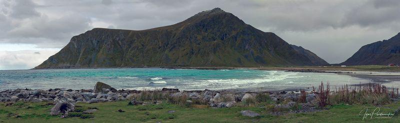 lofted island, norway, flakstad, beach, sea, mountains Бирюзовые воды Атлантики...photo preview