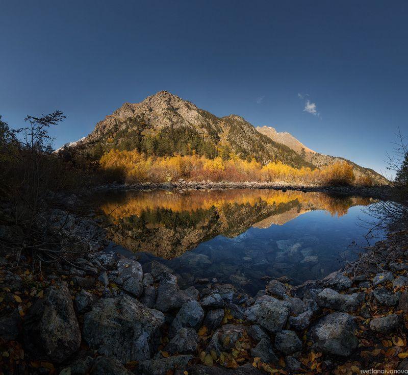 #домбай #кавказ #осень #бадукскиеозера #горы #кчр #теберда #dombay Осеннее золото Домбаяphoto preview