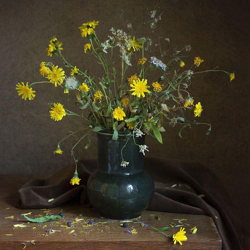 цветы, полевые, ваза Увяданиеphoto preview