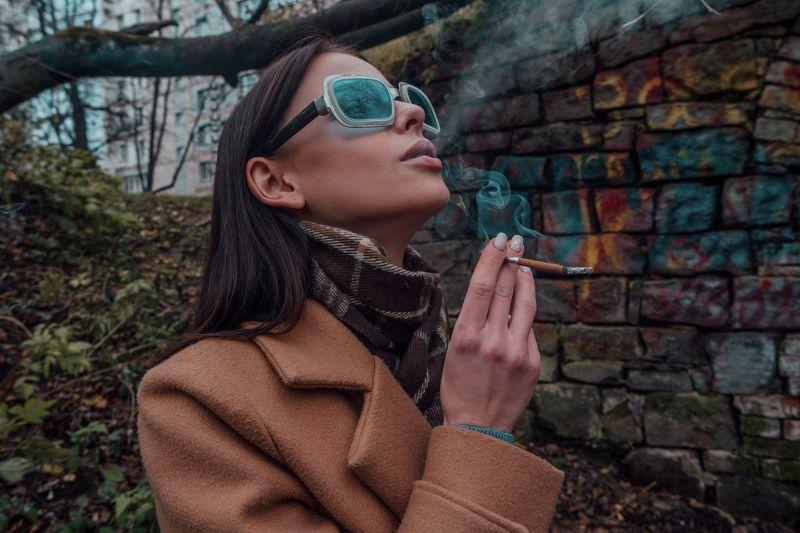 девушка, портрет, дым, стрит, граффити Татьянаphoto preview