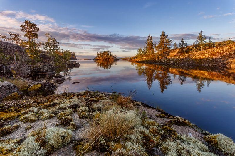рассвет пейзаж утро Острова озарённые светом.photo preview