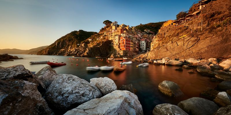 landscape, italy, sunset Riomaggiore photo preview