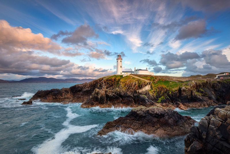 ireland, lighthouse, fanad, head, donegal, sunset, atlantic, cliffs, ocean Fanad Head Lighthouse IIphoto preview