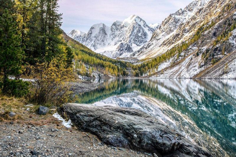 алтай,осень Застывшее спокойствие осеннего утраphoto preview