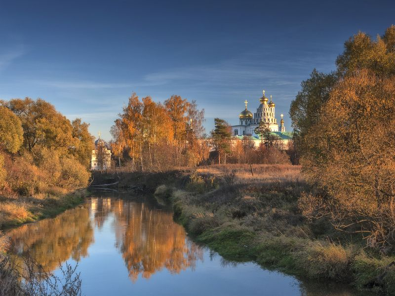 осень,река,храм,небо,россия,православие,природа ***photo preview