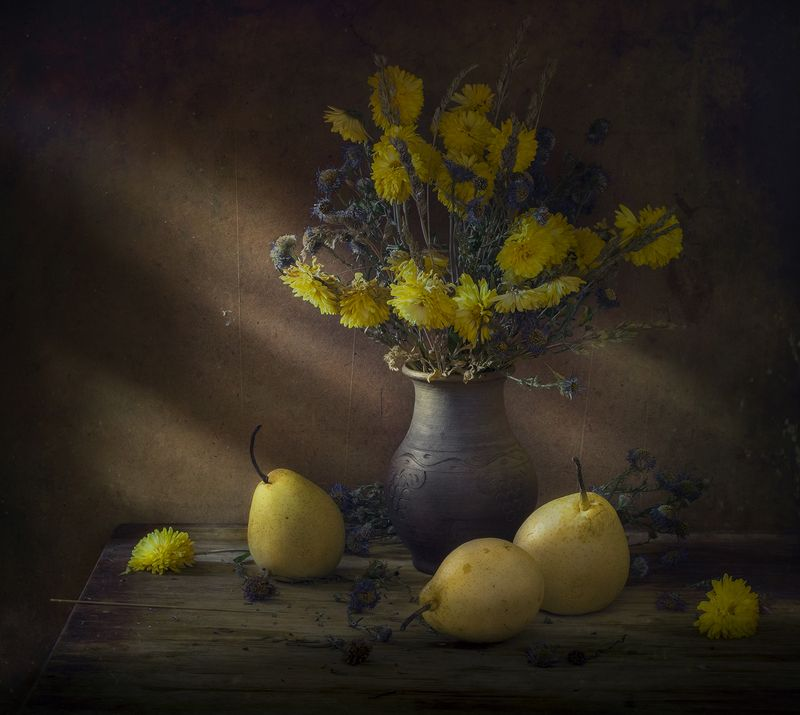 натюрморт,груши,клюква Осеньphoto preview