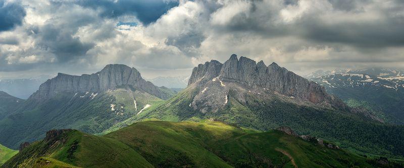 закат, большой тхач, малый тхач, асбестная, горы, пейзаж, рассвет, кавказ, адыгея, радуга, ачешбоки, облака, заповедник, Затягивает...photo preview