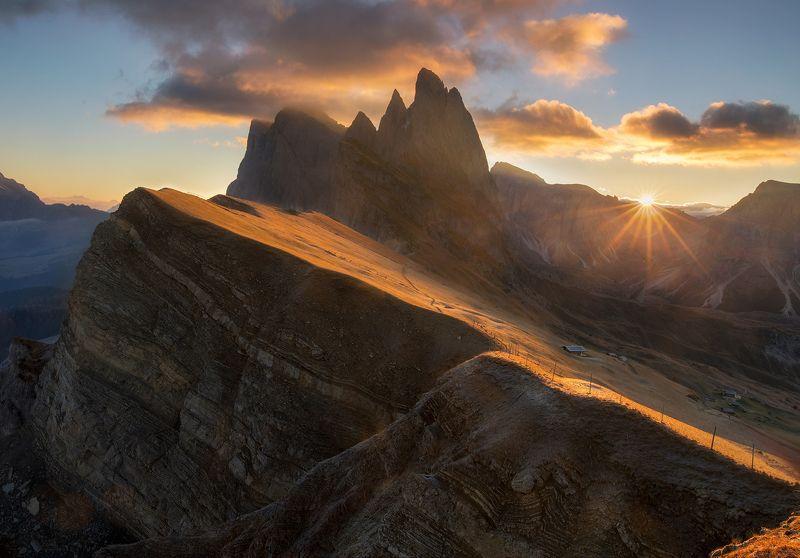 seceda, dolomites, italy Sunrise on Secedaphoto preview