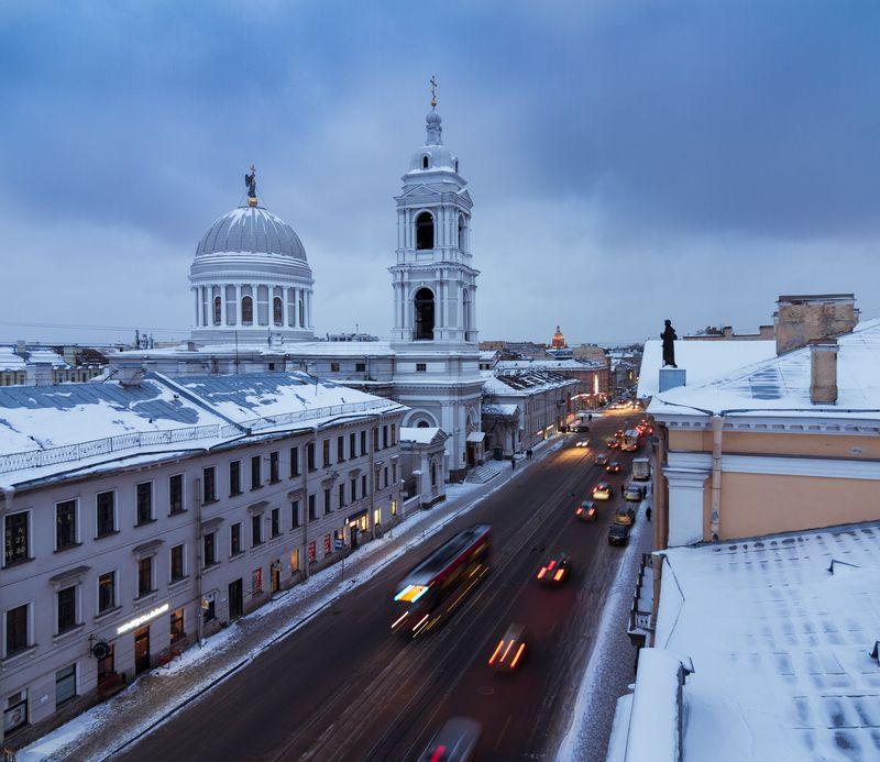 санкт-петербург, церковь, городской пейзаж, россия, зима, зимний пейзаж, photo preview