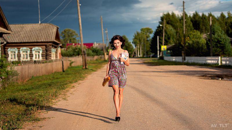 деревня, прогулка, солнечно, гламур, каблуки, портрет, улица, девушка, ноги Лидаphoto preview