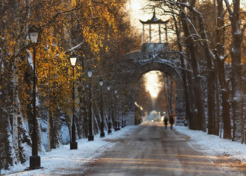 питер, пушкин, царскоесело, царское Первый снег этой осенью. . .photo preview