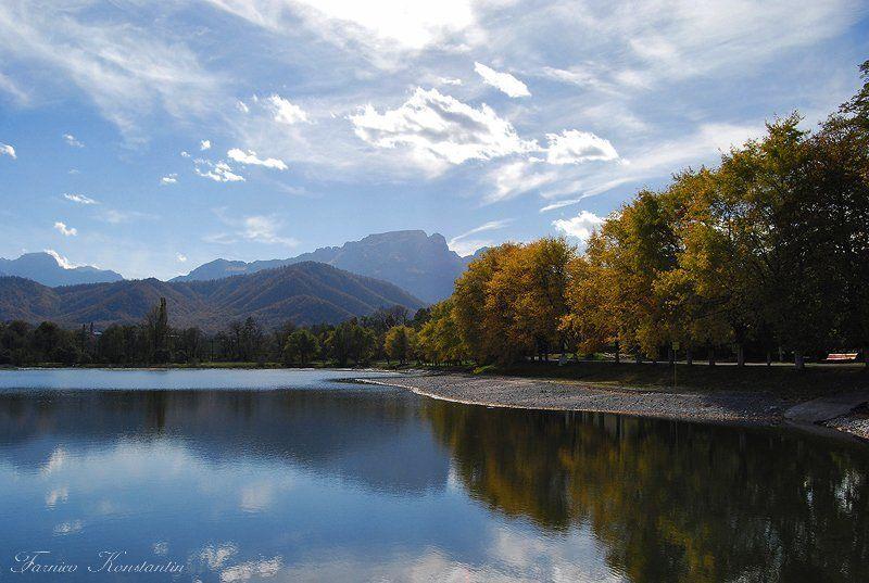 северная осетия, владикавказ, пейзаж Отражение осениphoto preview