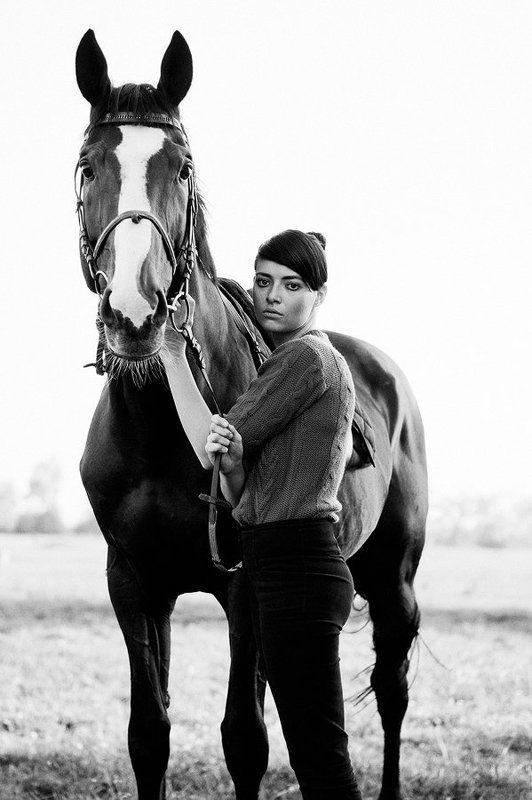лошадь, девушка, портрет Аняphoto preview