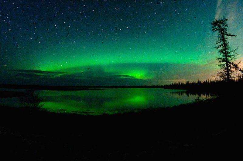 aurora borealis, север, ночной пейзаж, северное сияние Aurora Borealis 2011#1photo preview