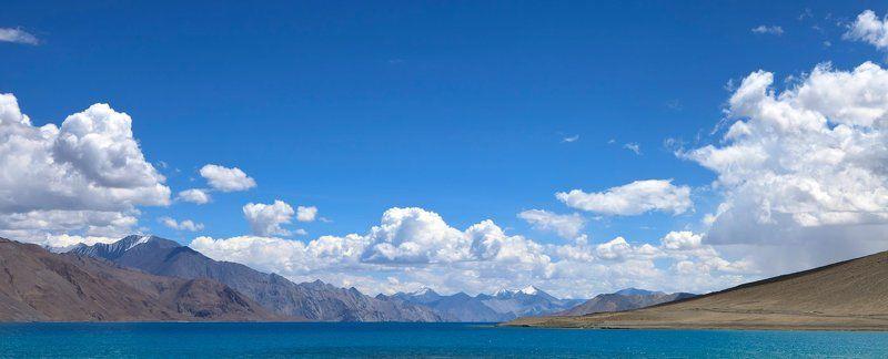 india, north india, jammu & kashmir, ladakh, pangong lake, pangong tso, panorama Pangong lake. Ladakh. Indiaphoto preview