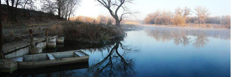 река, рассвет, лодка, донец, долгое ***photo preview