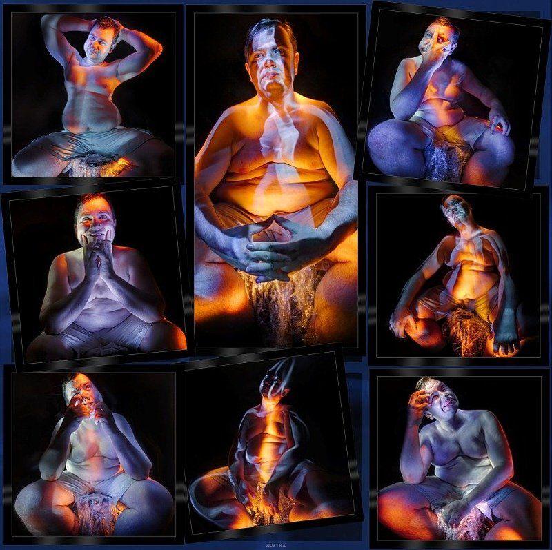 светографика, свет, портрет, мужчина Кто персонаж произведения?photo preview