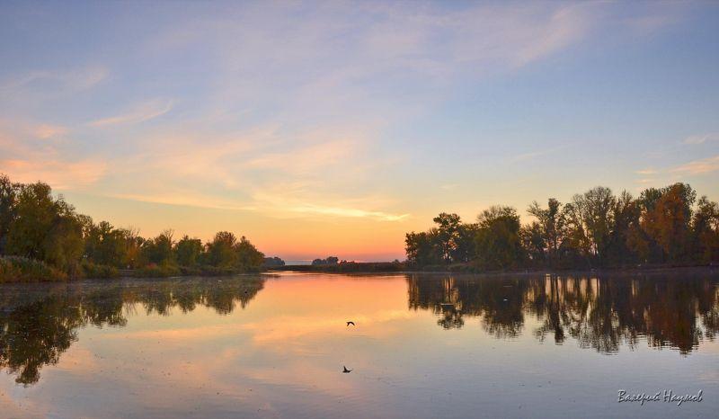 утро, рассвет, река, восход, октябрь, осень Утренний спектакльphoto preview