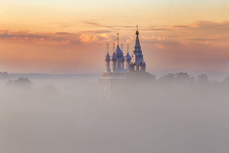 утро туман пейзаж рассвет река Сказочный сон в Дунилово.photo preview