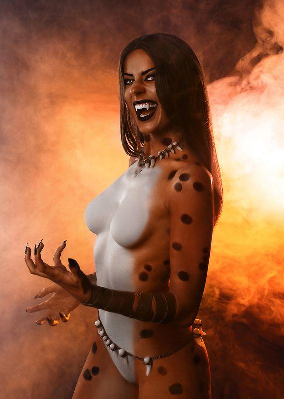 косплей, cosplay, дым, бодиарт, гепард Cheetahphoto preview