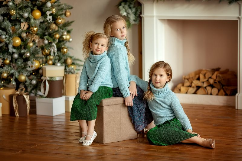 детская фотография Три девицыphoto preview