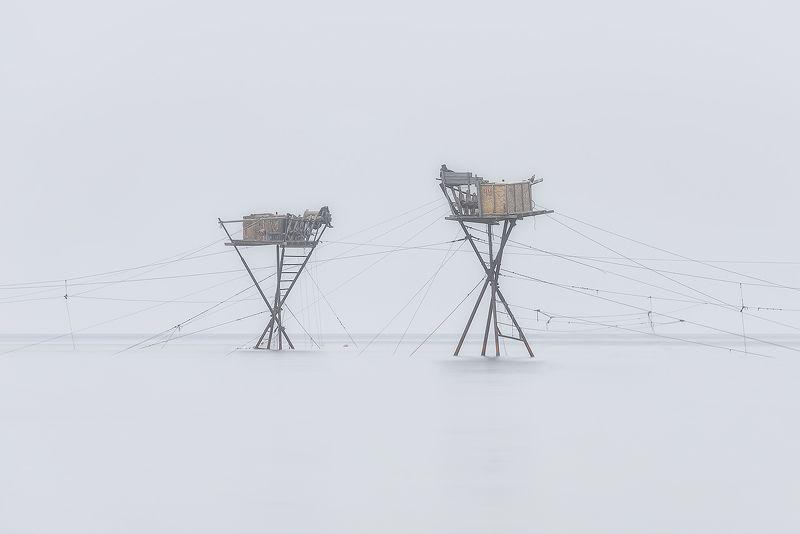 крым, море, рыбаки, туман Левитацияphoto preview