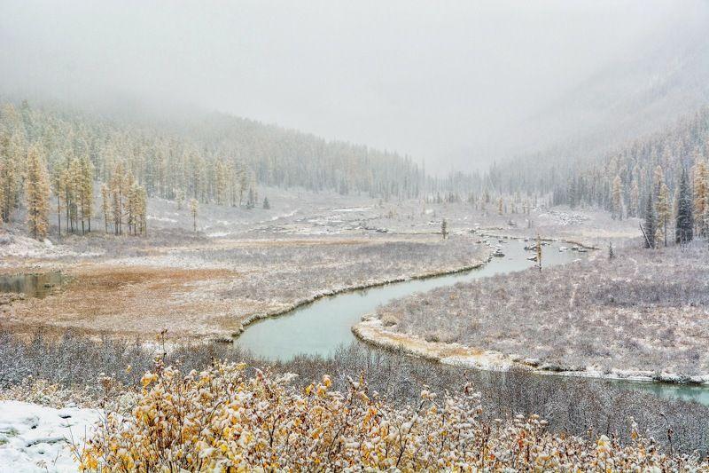 алтай,осень зима наступаетphoto preview