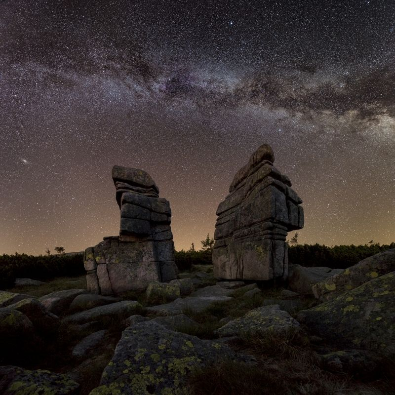 stars, milkyway, galaxy, moai, stars Moai..photo preview