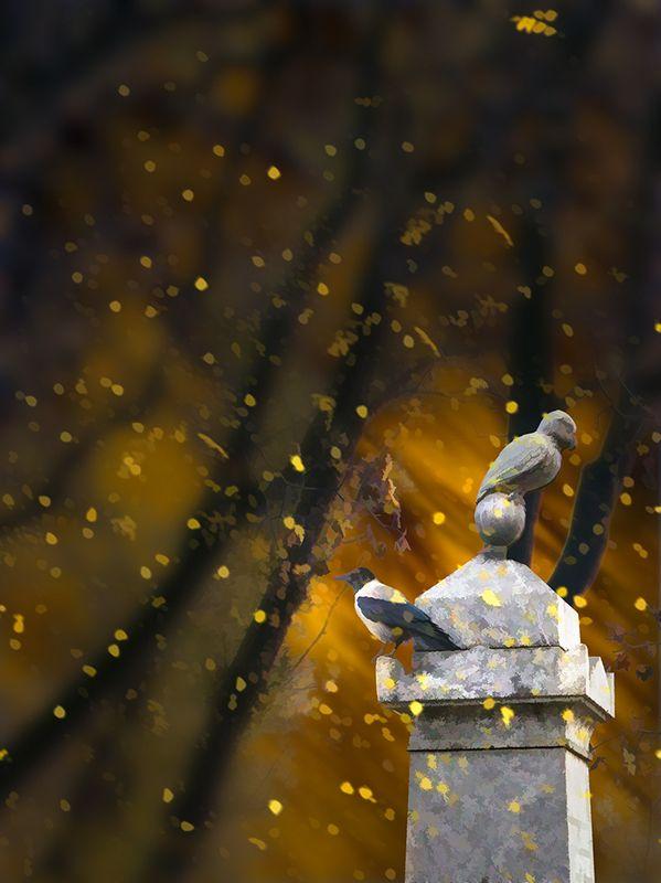 Падают, падают, падают листья...(Тихвинское кладбище . Санкт-Петербург)photo preview