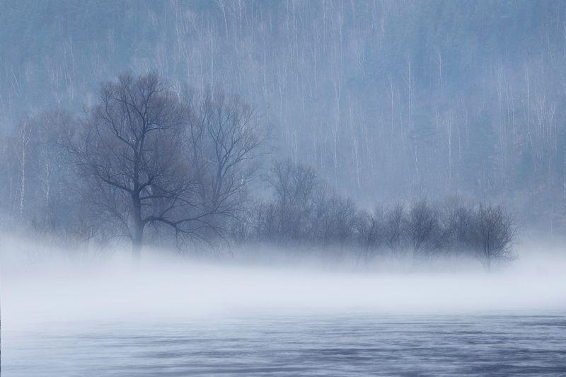 туман, река, урал, пейзаж, ай, башкирия Лунная река, туманные берегаphoto preview