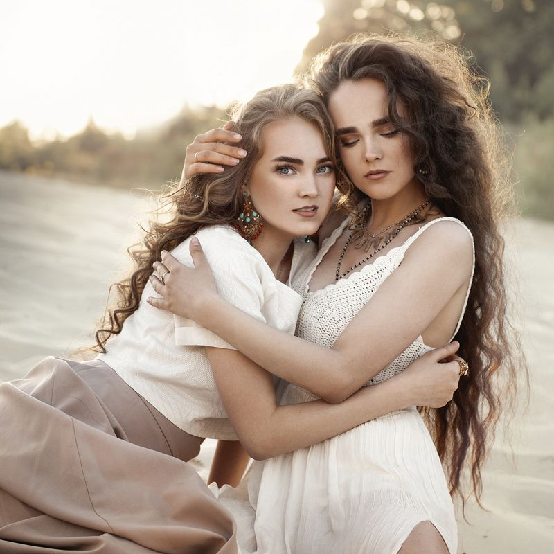 девушка, портрет , сестры Сёстрыphoto preview