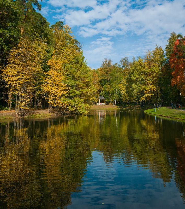 В осеннем парке городскомphoto preview