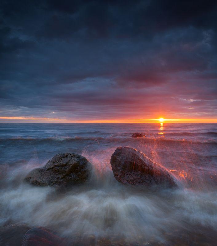 панорама пейзаж море камни закат лето Вспоминая летоphoto preview