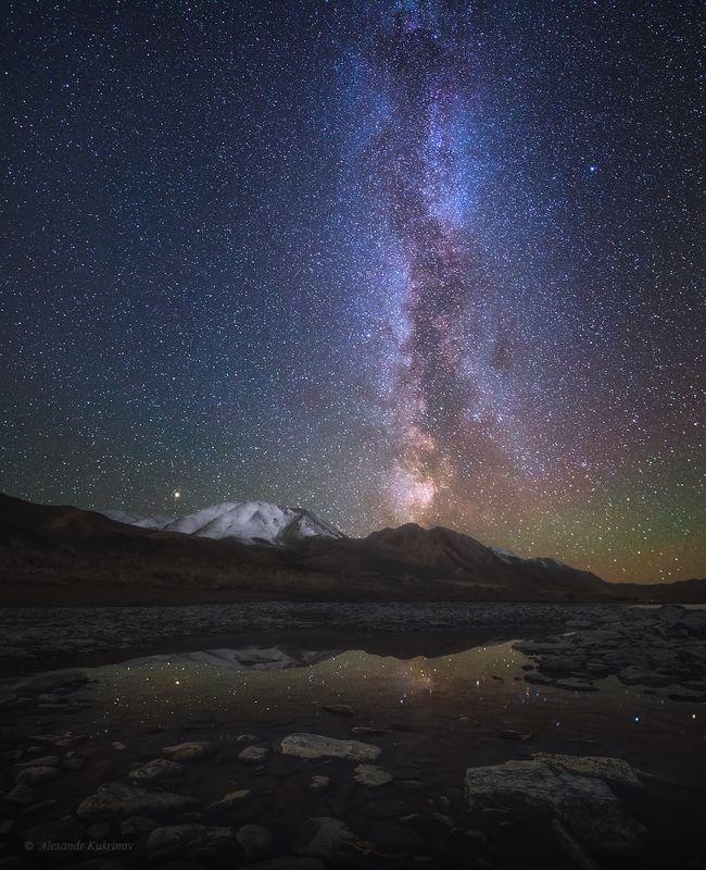 монголия, ночь, ховд, млечный путь Прикосновения вселенной...photo preview