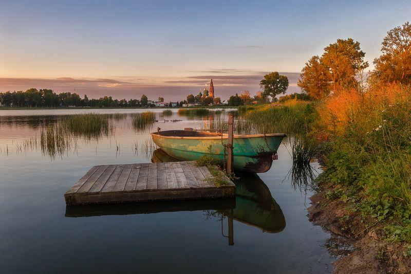закат природа пейзаж река солнце Замечательный вечер в красках заката.photo preview
