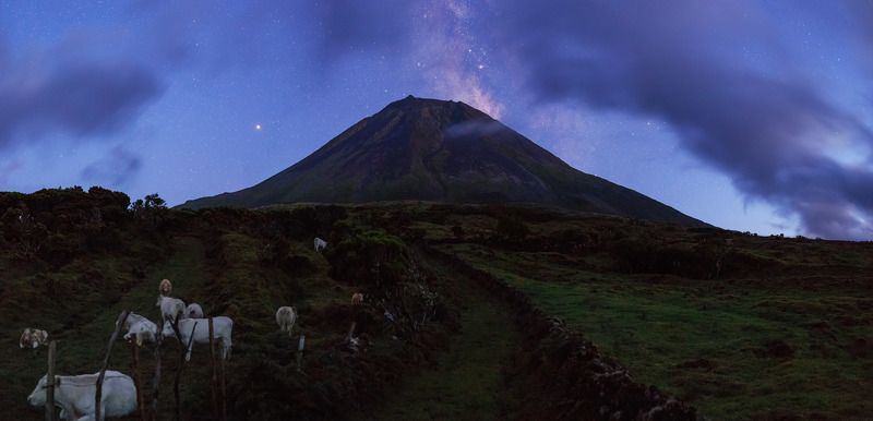 Azores, volcano Pico, Milky way Near volcano Pico at Nightphoto preview