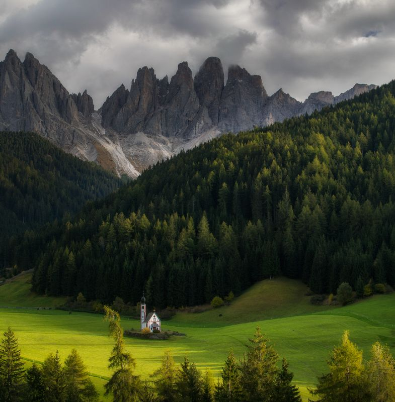 dolomites, italy Chiesetta di San Giovanniphoto preview