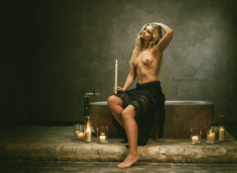 девушка, нюарт, портрет, ванна, студия грёзыphoto preview