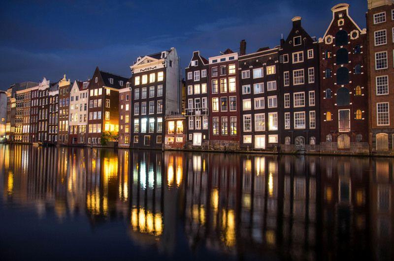 amsterdam netherland night architecture toyhouse egorbugrimov голандия амстердам ночь отражение европа архитектура огни Toyreflex.photo preview