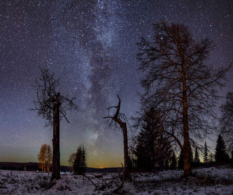 пермский край, астро фото, звезды Звездная ночьphoto preview